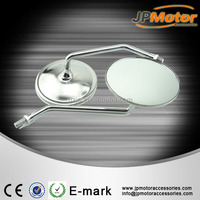 New 1 Pair Motorcycle Mirror Chrome Motorbike Rear View Mirrors Silver