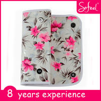 Sofeel New customized flower printing travel makeup case