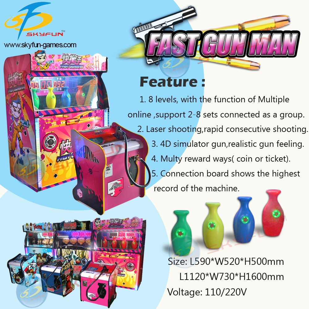 Interactive laser game simulator shooting game machine fast gun man for sale