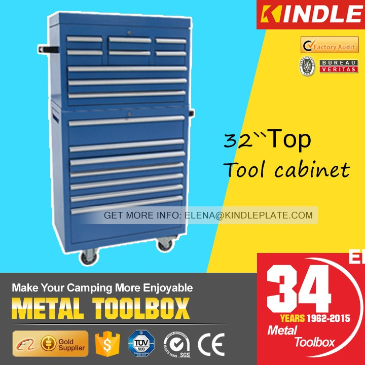 Kindle 17-Drawers,4 Casters Stable Steel Garage Tool Cabinet steel tool box