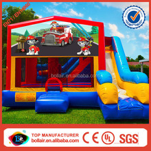 China wholesale fire truck inflatable bounce house