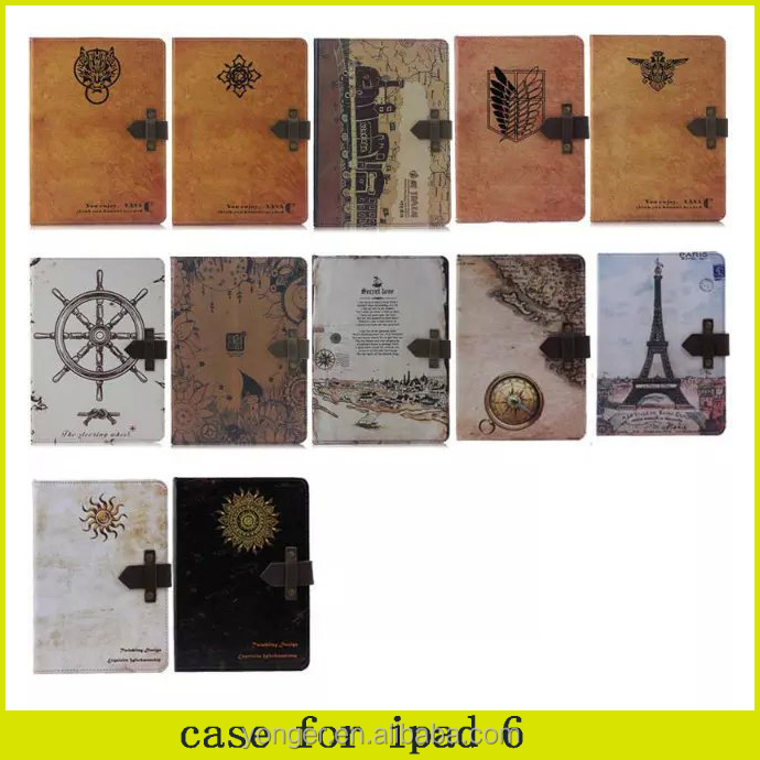 2015 brand new ,Retro Wind vintage leather case for ipad air 2,for ipad 6 air 2intage pattern case