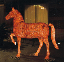 Outdoor lighted animal christmas yard decorations