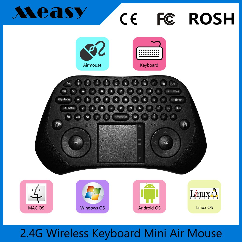 Measy GP800 Mini Wireless Keyboard 2.4G XBMC Keyboards Touchpad Mouse Combo- Multi-media Portable Handheld Android Keyboard