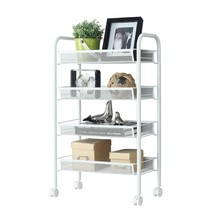 Wholesales rolling utility mesh Cart storage rack <strong>shelf</strong>