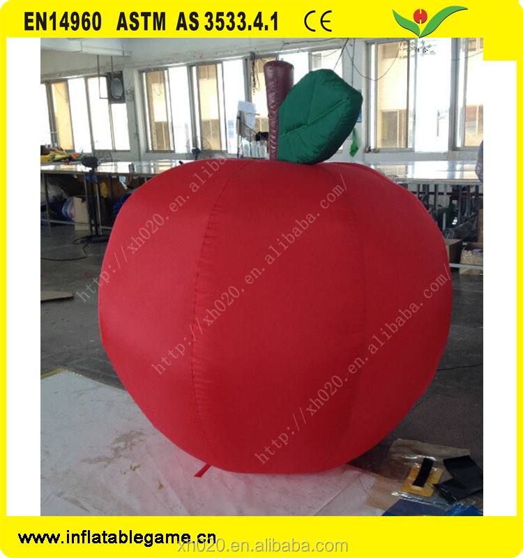 Red giant inflatable apple for advertising