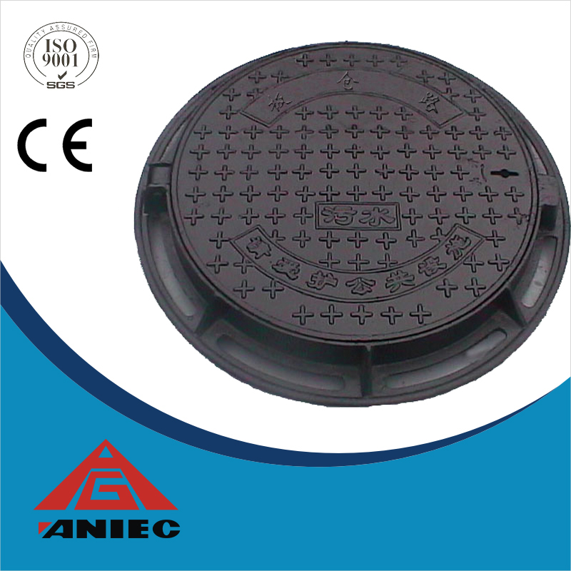 OEM custom castings parts cast iron manhole cover with frame