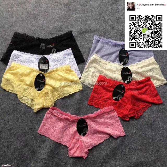 2017 Latest design Cheaper Lace fashion newest panties ladies underwear stocklot