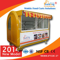 used mobile street mobile kitchen fast food kiosk cart for sale with resonable price