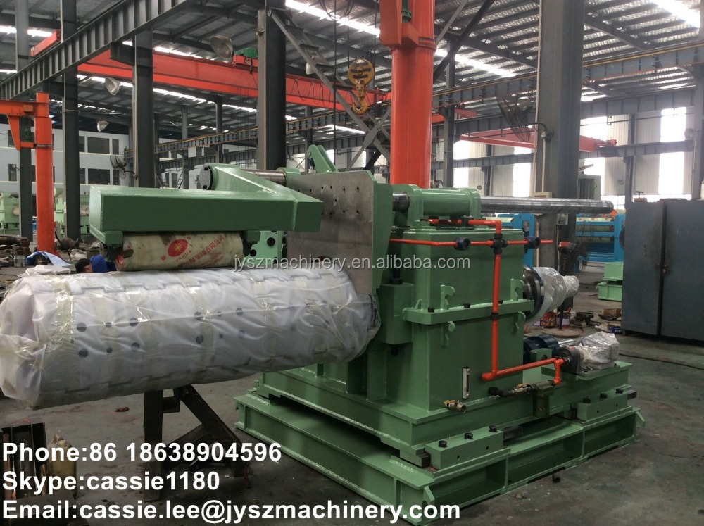 steel aluminum slitting line cut to length line heavy duty tension reel recoiler uncoiler machine