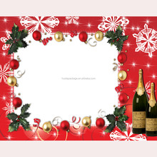 Happy Christmas Table Decoration and Accessory of Ringbell n Wine Design Placemat for Holiday Promotion