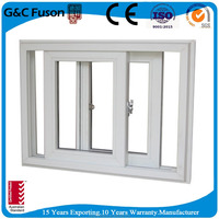 factory price tempered glass soundproof sliding aluminium windows for house