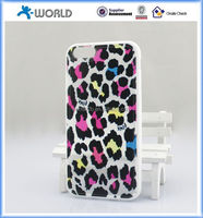 4.7 inch OEM made in china fashion cheap leopard tpu phone cover for iphone 6