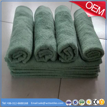 100% cotton plain emboidery dobby olive green army military bath towel