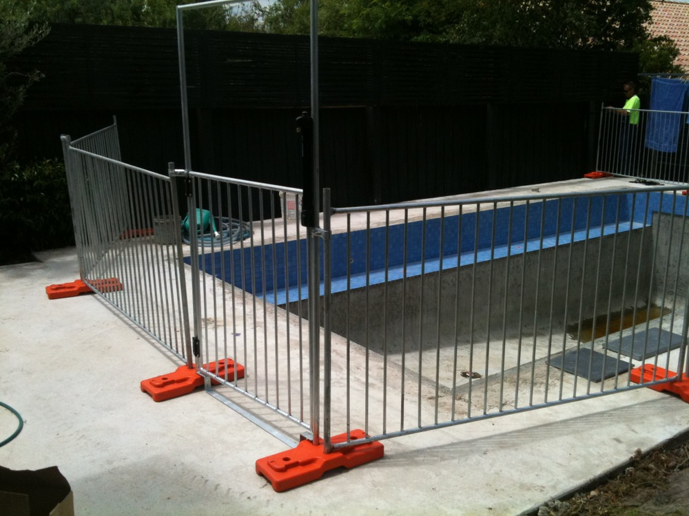 Portable Aluminum Fencing : Safety removable portable folding temporary swimming pool