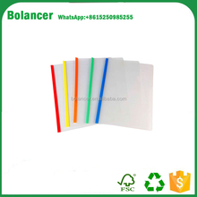 Bolancer A4 eco-friendly <span class=keywords><strong>de</strong></span> plástico transparente diapositivas agarre informe carpeta