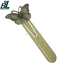 Zinc alloy die casted 3D butterfly antique bookmark