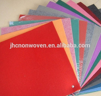 Wholesale cheap polyester color nonwoven handicraft felt fabric sheet