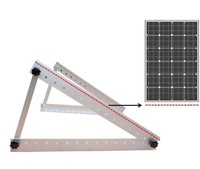 Adjustable Solar Panel Mount Mounting Rack Bracket -- Boat, RV, Roof Off Grid