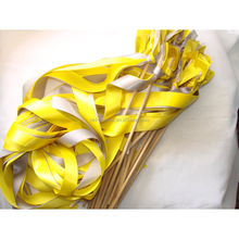 Wedding Wands Striped Ribbon Reception Ceremony Wood Fall Summer Handmade Sticks Bells for Bride Groom Ribbon Decoration