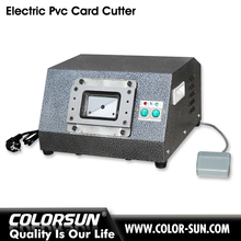 Electric interchangeable plastic CR80 id card cutting machine