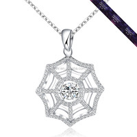 JP0548- 2016 Europe Aliexpress Jewelry Spiderweb Design Pendant Silver 925