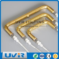 U type infrared halogen lamp industrial heat lamps