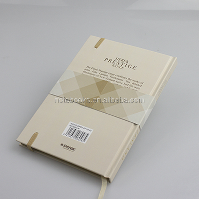 New premium custom printed hard cover fsc paper notebook with golden edge