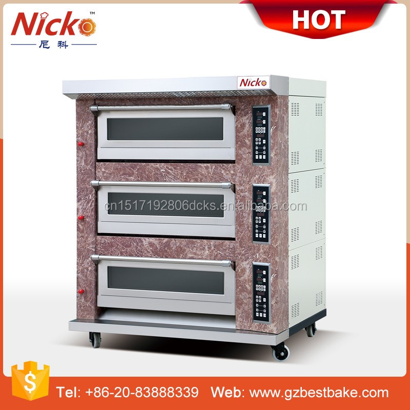 Nicko's double deck baking oven gas deck oven
