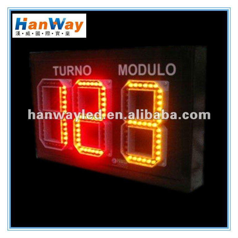 12 inch 6 digits led waterproof countdown timer