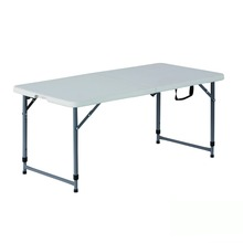 4FT Adjustable Folding in Half Suitcase HDPE Plastic Table
