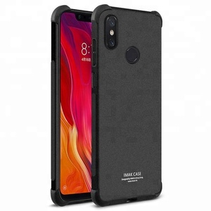 iMak Airbag Matte Silicone Soft TPU Cover Cell Phone Protective Cases For Xiaomi Mi 8 Accessories Phone Cover Designs