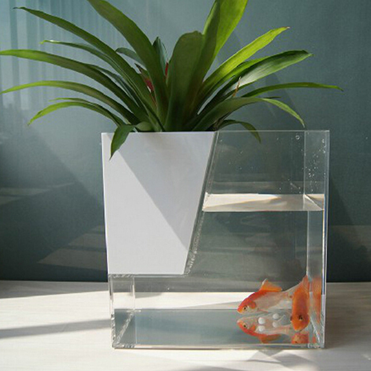 new products 2017 acrylic <strong>fish</strong> tank mini acrylic aquarium with plants