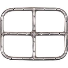 12 X 9 Inch Stainless Rectangular Propane or Natural Gas Fire Pit Ring Burner