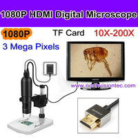 HD stereo microscope with stand