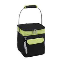 4 Bottle Pack Insulated Wine Carrier for Outdoors with Metal Tote Handle