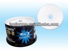 25GB 6X White Inkjet Printable BDR Bluray Blank Disc