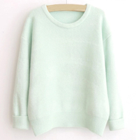 W71585G 2015 newest design wholesale plain cashmere women sweaters knitted