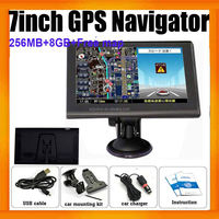 "7"" HD Touch Screen 256MB 8G Car Navigation GPS Navigator With Free Maps"