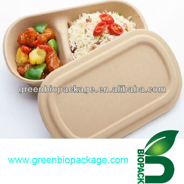 biodegradable eco freindly Food Packing container Bamboo bowl