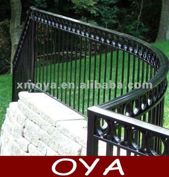 cheap decorative palisade metal fence panels round post caps garden buildings view palisade. Black Bedroom Furniture Sets. Home Design Ideas