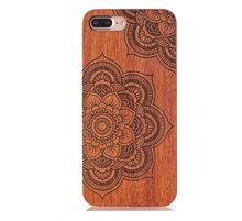 Factory price mobile phone case engraving constom design wooden cell phone wood case For iphone 7/7plus