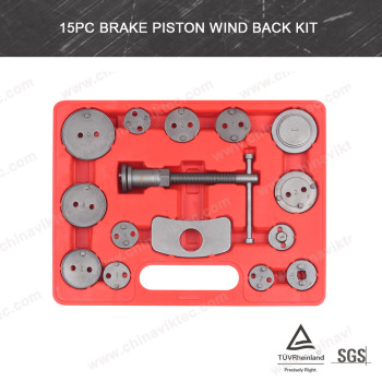 15pc Under car tools Brake caliper Piston Wind Back Tool Kit set(VT01025B)