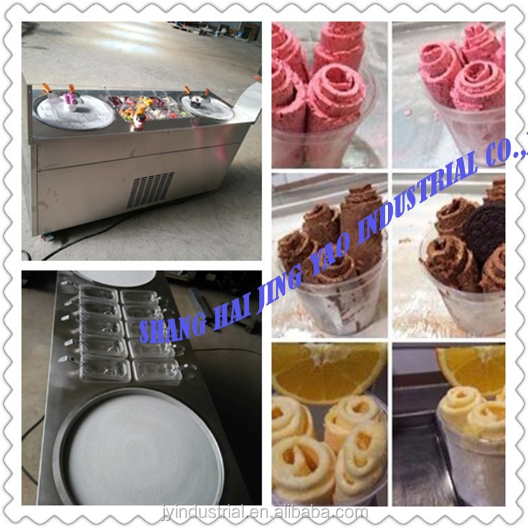 Brand new egype rolled fry ice cream machine wooden package customized production
