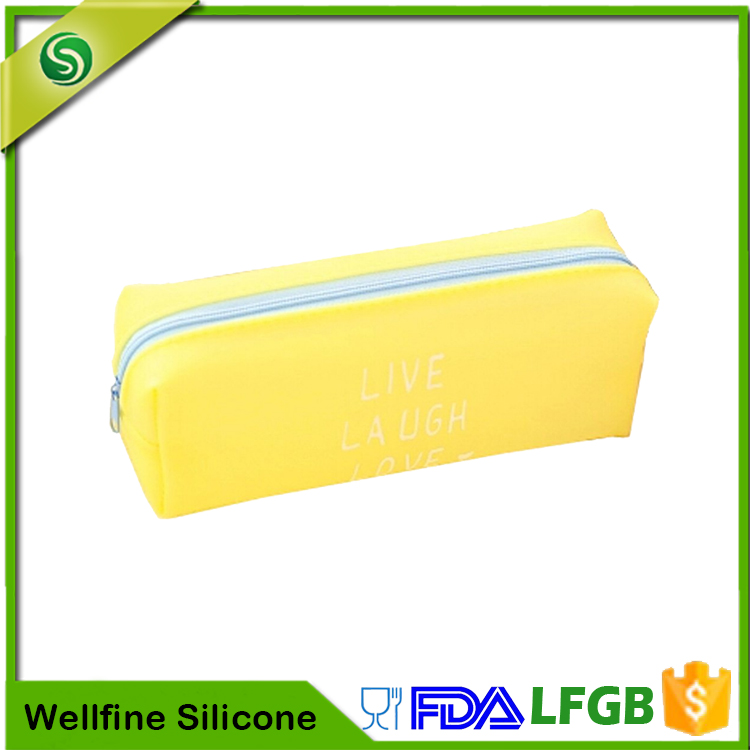 Professional Durable School Students Custom Silicone Pen Bag