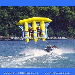 Customzied inflatable fly fish toy /fly fish banana boat/water games flyfish