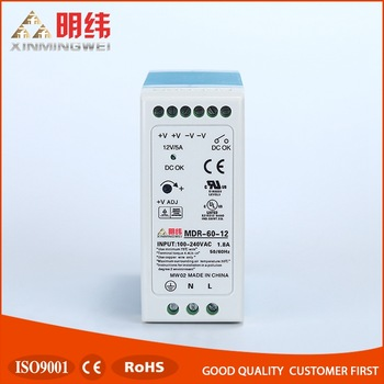 Meanwell MDR-60-12 Industrial DIN Rail Power Supply, 12v power supply
