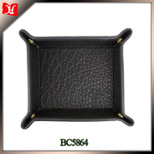 High quality moroccan tray genuine leather desk tray money tray
