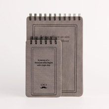 High Quality Mini Design Grain Hardcover Korean Spiral Notebook