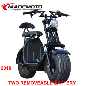 160km Removable Double Battery Citycoco electric tricycle scooter